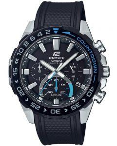 Casio Edifice Premium Solar Chronograph Black Rubber Strap Watch EFS-S550PB-1AVUEF