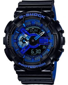 Casio G-Shock Classic Dual Display Blue Plastic Strap Watch GA-110LPA-1AER
