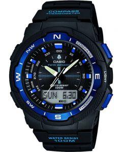 Casio Sports Gear Dual Display Black Plastic Strap Watch SGW-500H-2BVER
