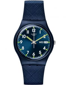 Swatch Unisex Sir Blue Strap Watch GN718