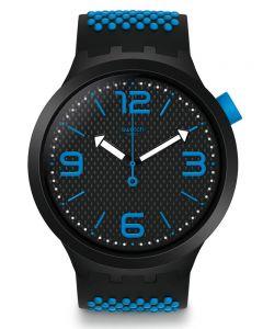 Swatch BBBlue Blue Rubber Strap Watch SO27B101