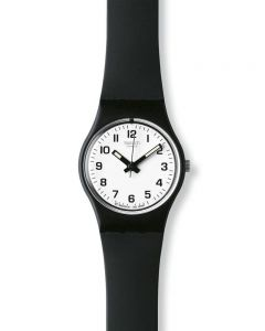 Swatch Ladies Black Rubber Strap Watch LB153