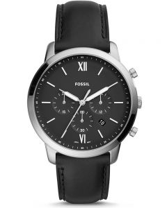 Fossil Neutra Black Leather Strap Watch FS5452