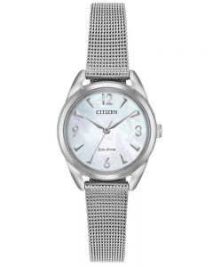 Citizen Ladies LTR Mother Of Pearl Dial Mesh Bracelet Watch EM0680-53D