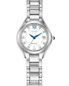 Citizen Ladies Silhouette Crystal White Dial Stainless Steel Bracelet Watch EW2540-83A