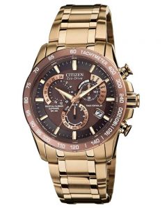 Citizen Mens PCAT Sapphire Rose Tone Bracelet Watch AT4106-52X