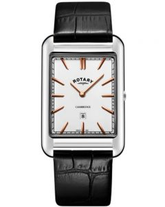 Rotary Mens Cambridge Rectangular White Watch GS05280/02