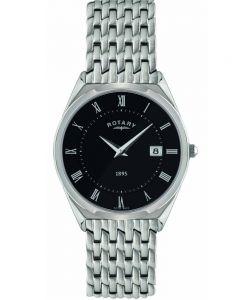 Rotary Mens Black Dial Watch GB08000-04