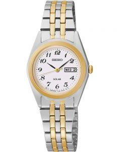 Seiko Ladies Discover More Solar Two Tone Bracelet Watch SUT116P9