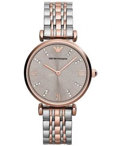 Emporio Armani Ladies T-Bar Rose Gold Bracelet Watch AR1840