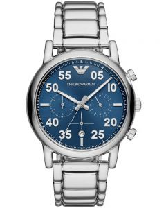 Emporio Armani Mens Luigi Blue Chronograph Watch AR11132