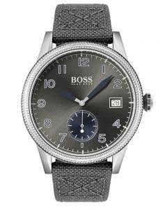 BOSS Mens Legacy Grey Fabric Strap Watch 1513683