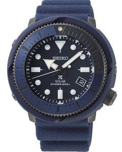 Seiko Mens Prospex Tuna Street Series Solar Navy Rubber Strap Watch SNE533P1