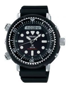 Seiko Mens Prospex Arnie Solar Black Dial Rubber Strap Watch SNJ025P1