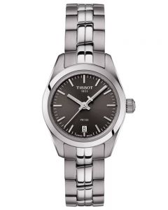 Tissot Ladies T-Classic PR-100 Dark Grey Dial Bracelet Watch T1010101106100