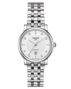 Tissot Ladies T-Classic Carson Premium Automatic Diamond Bracelet Watch T122.207.11.036.00
