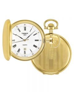 Tissot Mens Savonnette Gold Full Hunter Pocket Watch T834.553.13