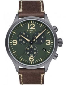 Tissot Mens T-Sport Chrono XL Brown Leather Strap Watch T116.617.36.097.00