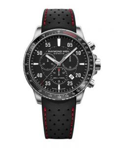 Raymond Weil Mens Tango Chrono Leather Strap Watch 8570-SR1-05207