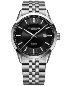 Raymond Weil Mens Freelancer Black Bracelet Watch 2731-ST-20001