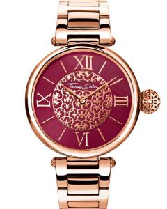THOMAS SABO Ladies Karma Rose Gold Tone Arabesque Bracelet Watch WA0306-265-212-38MM