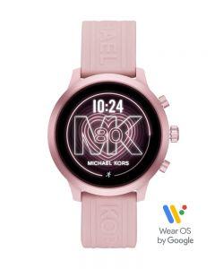 Michael Kors Ladies MKGO Pink Rubber Strap Smartwatch MKT5070