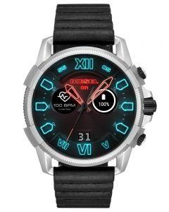 Diesel Mens Full Guard 2.5 Touchscreen Leather Strap Smartwatch DZT2008