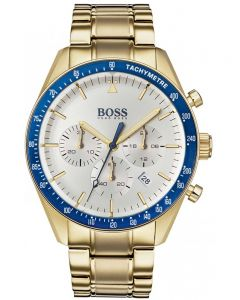 BOSS Mens Trophy Chronograph Gold Bracelet Watch 1513631