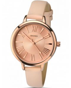 Sekonda Ladies Cream Strap Watch 2355