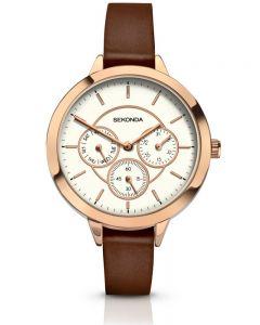 Sekonda Ladies Brown Strap Watch 2366