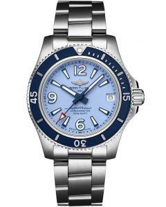 Breitling Ladies Superocean Automatic 36 Blue Bracelet Watch A17316D81C1A1