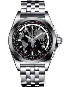 Breitling Mens Galactic Unitime Bracelet Watch WB3510U4-BD94 375A