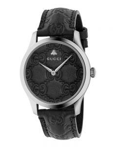 Gucci Ladies G-Timeless Black Leather Strap Watch YA1264031A