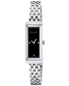Gucci Ladies G-Frame Diamond Set Black Dial Bracelet Watch YA127504