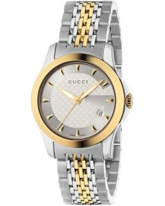 Gucci Ladies G-Timeless Two Colour Bracelet Watch YA126511