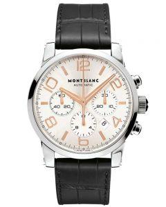 Montblanc Mens Timewalker Black Leather Strap Watch 101549