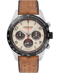 Montblanc Mens Timewalker Limited Edition Chronograph Distressed Brown Leather Strap Watch 118491