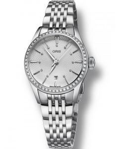 Oris Ladies Artelier Diamond Date Bracelet Watch 561 7722 4951-07-MB