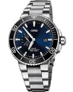 Oris Mens Aquis Date Small Second Bracelet Watch 743 7733 4135-07 8 24 05PEB