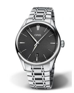 Oris Mens Artelier Date Automatic Bracelet Watch 733 7721 4053-07B