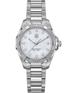 TAG Heuer Ladies Aquaracer Quartz Diamond-set Bracelet Watch WBD1314.BA0740