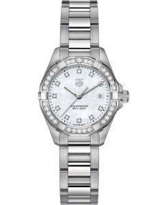 TAG Heuer Ladies Aquaracer Quartz Diamond-set Bracelet Watch WBD1415.BA0741