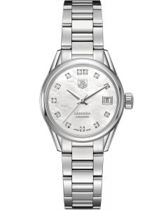 TAG Heuer Ladies Carrera Calibre 9 Diamond-set Bracelet Watch WAR2414.BA0770