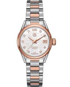 TAG Heuer Ladies Carrera Calibre 9 Diamond-set Two-Tone Bracelet Watch WAR2452.BD0772