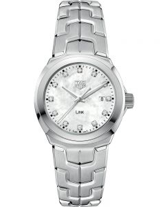 TAG Heuer Ladies Link Quartz Diamond Dial Mother Of Pearl Bracelet Watch WBC1312.BA0600