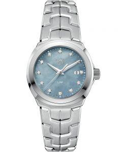 TAG Heuer Ladies Link Quartz Diamond Dial Grey Mother Of Pearl Bracelet Watch WBC1313.BA0600