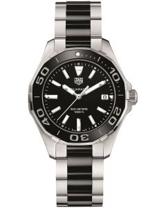 TAG Heuer Ladies Aquaracer Quartz Black Bracelet Watch WAY131A.BA0913