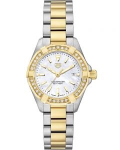 TAG Heuer Ladies Aquaracer Quartz Two Tone Bracelet Watch WBD1421.BB0321