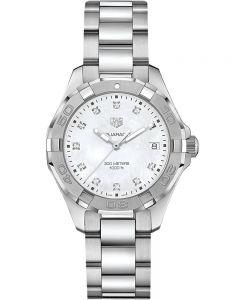 TAG Heuer Ladies Aquaracer Quartz Mother Of Pearl Diamond Watch WBD131B.BA0748