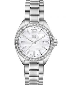 TAG Heuer Ladies Formula 1 Quartz Diamond Bezel Mother Of Pearl Watch WBJ141A.BA0664